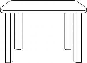 Как нарисовать стол