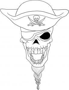 Как нарисовать пиратский череп