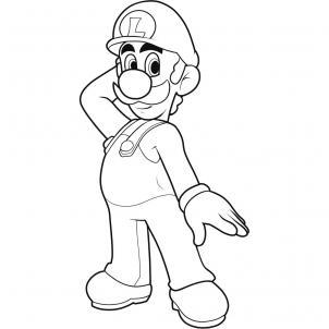 Как нарисовать Луиджи Марио