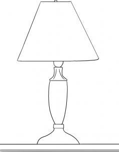 Как нарисовать лампу?