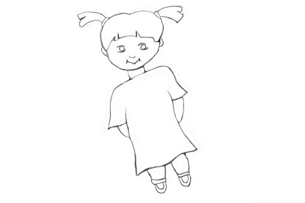 Как нарисовать куколку для детей?