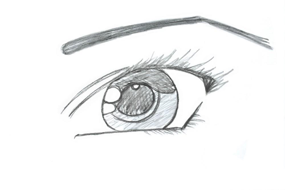 Как нарисовать глаза ребенку