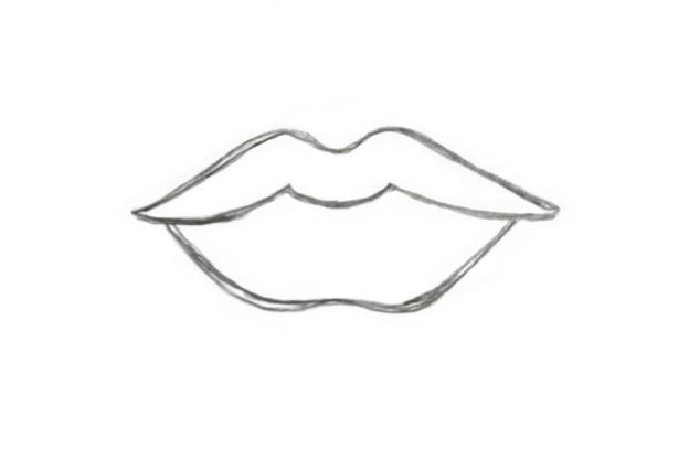 Как нарисовать губы побольше