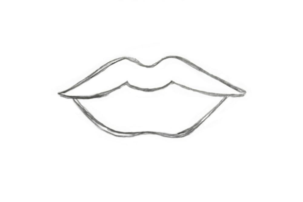 Как нарисовать губы для детей