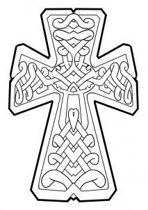 как нарисовать кельтский крест карандашом поэтапно