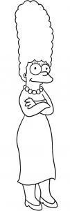 Как нарисовать Мардж Симпсон?