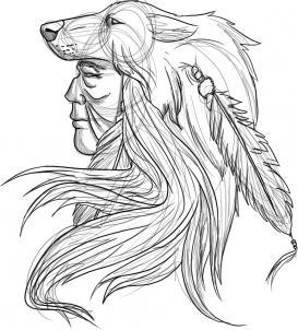 Как нарисовать индейца?