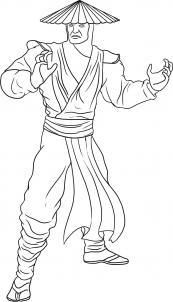 Как нарисовать Мортал Комбат — Райдэн?