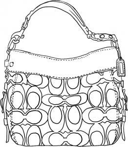 Как нарисовать сумку