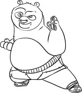 Как нарисовать Кунг фу Панду
