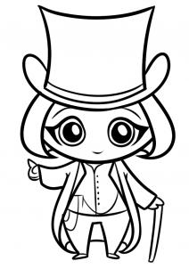 Как нарисовать Вилли Вонка?