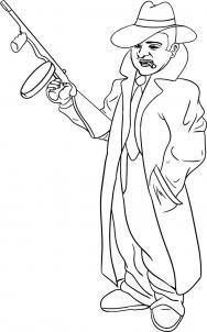 Как нарисовать гангстера
