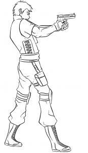 Как нарисовать Криса Редфилда