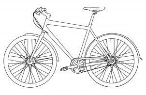 Как нарисовать спортивный велосипед?