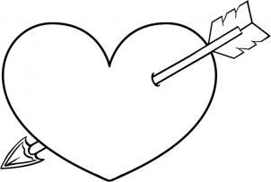 Как нарисовать сердце со стрелой?