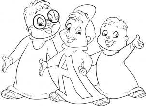Как нарисовать Элвина и бурундуков
