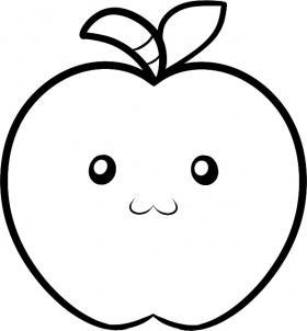 Как нарисовать яблоко детям