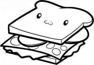 Как нарисовать бутерброд детям