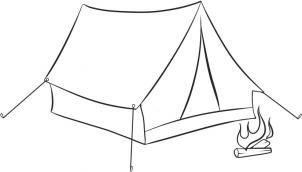 Как нарисовать палатку