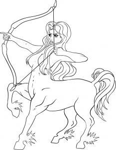 Как нарисовать знак зодиака стрелец?