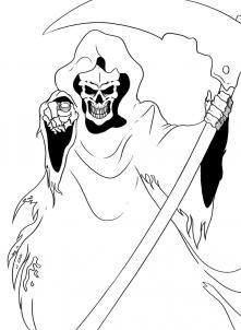 Как нарисовать смерть с косой