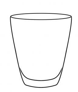 Как нарисовать стакан?