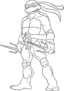 Как нарисовать черепашку-ниндзя Рафаэль