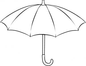 Как нарисовать зонтик