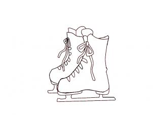 Как нарисовать коньки