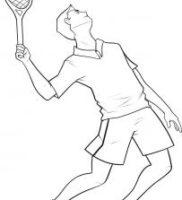 Как нарисовать теннисиста
