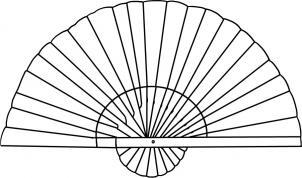 Как нарисовать веер