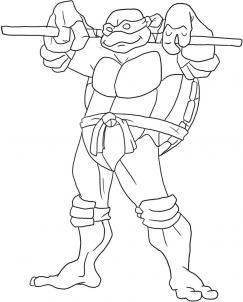 Как нарисовать черепашку-ниндзя Донателло?