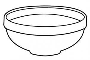 Как нарисовать миску