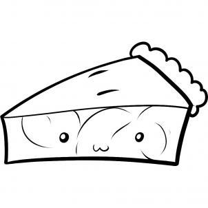 Как нарисовать яблочный пирог