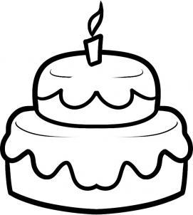 Как нарисовать торт для детей