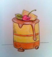 Как нарисовать пирожное цветными карандашами поэтапно