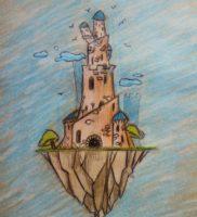 Как нарисовать башню карандашом поэтапно