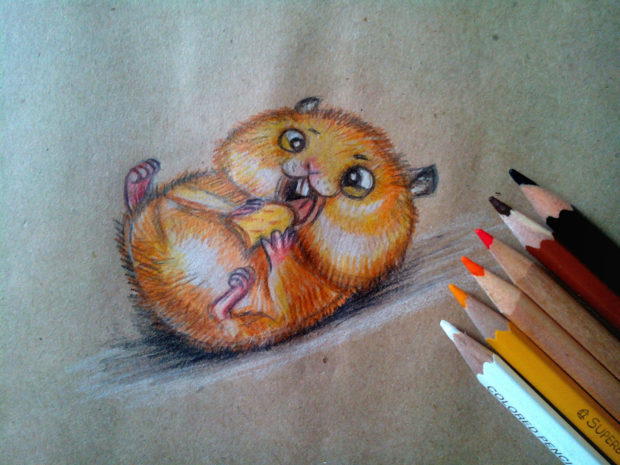 Как нарисовать Хомяка карандашом поэтапно?