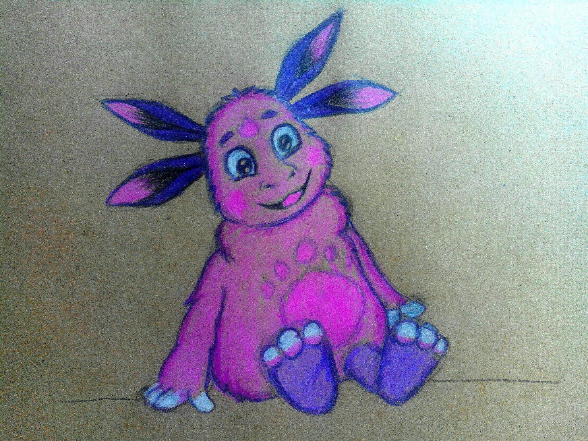 Как нарисовать Лунтика карандашом поэтапно