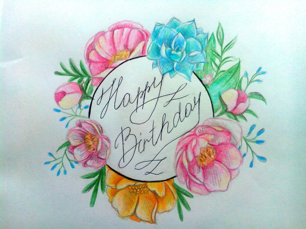 Рисунки маме на день рождения маме открытку 45