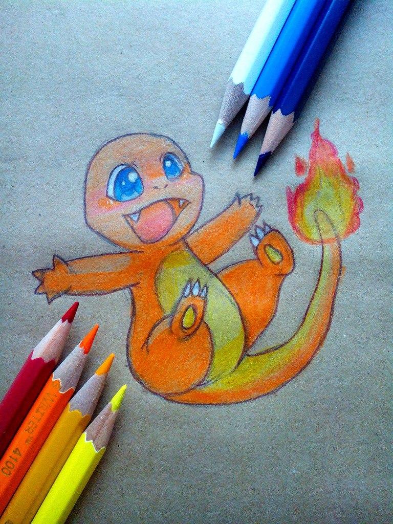 Как нарисовать покемона Чанмардера карандашом поэтапно