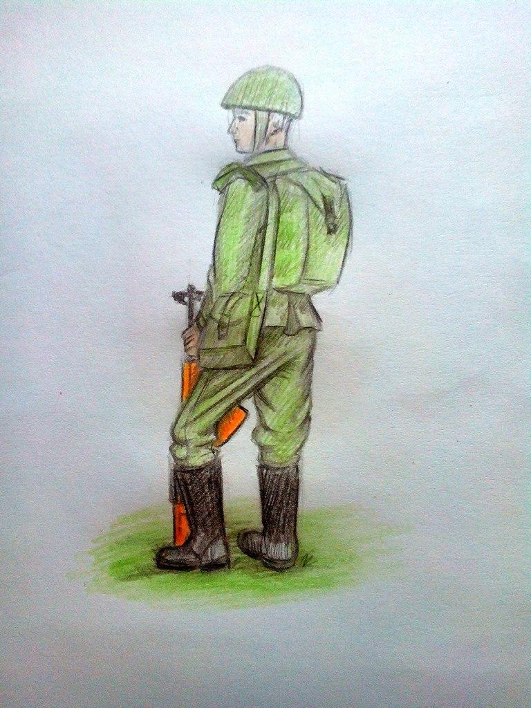 Как нарисовать солдата