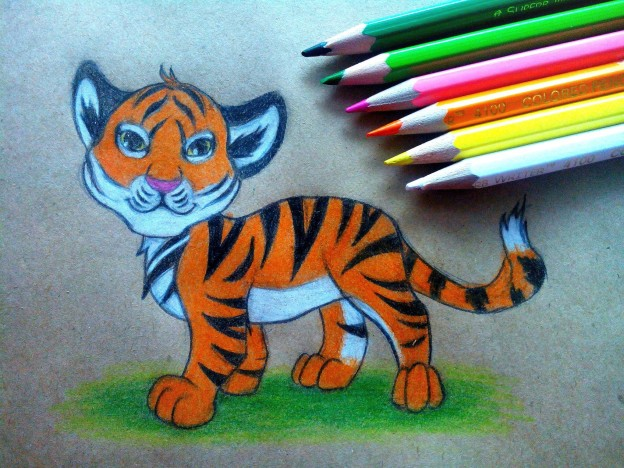 Тигр. Готовая работа