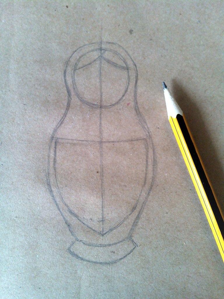 Как нарисовать матрешку карандашом для начинающих