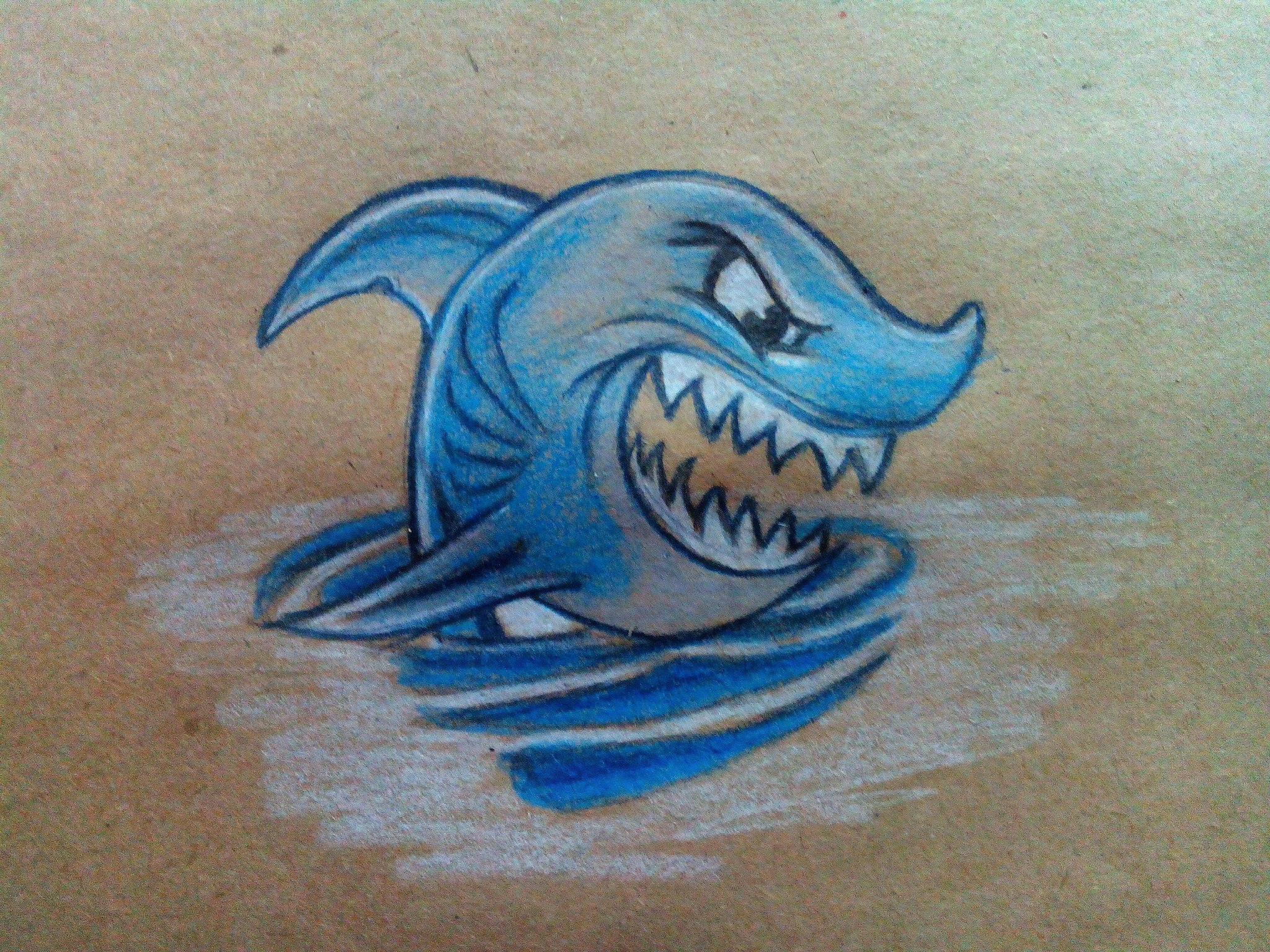 Как нарисовать акулу карандашом поэтапно?
