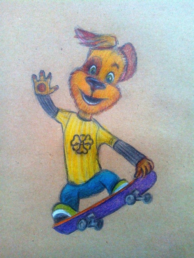 Как нарисовать Дружка из мультфильма «Барбоскины» карандашом поэтапно