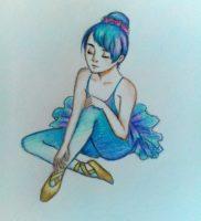Как нарисовать балерину поэтапно