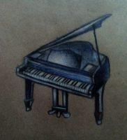 Как нарисовать рояль карандашом поэтапно