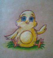 Как нарисовать цыпленка карандашом поэтапно