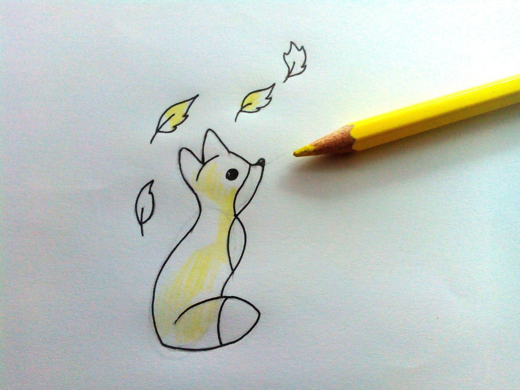 очень легкие и красивые рисунки карандашом для срисовки